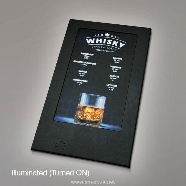 Restaurant menu board design ideas in these illuminated menu covers ...