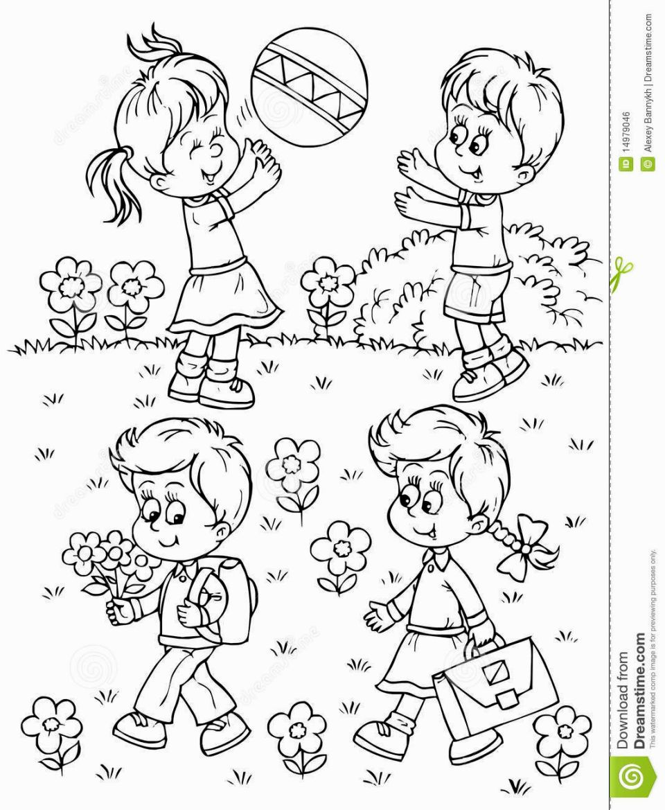 Playground Coloring Pages  Summer coloring pages, Coloring books