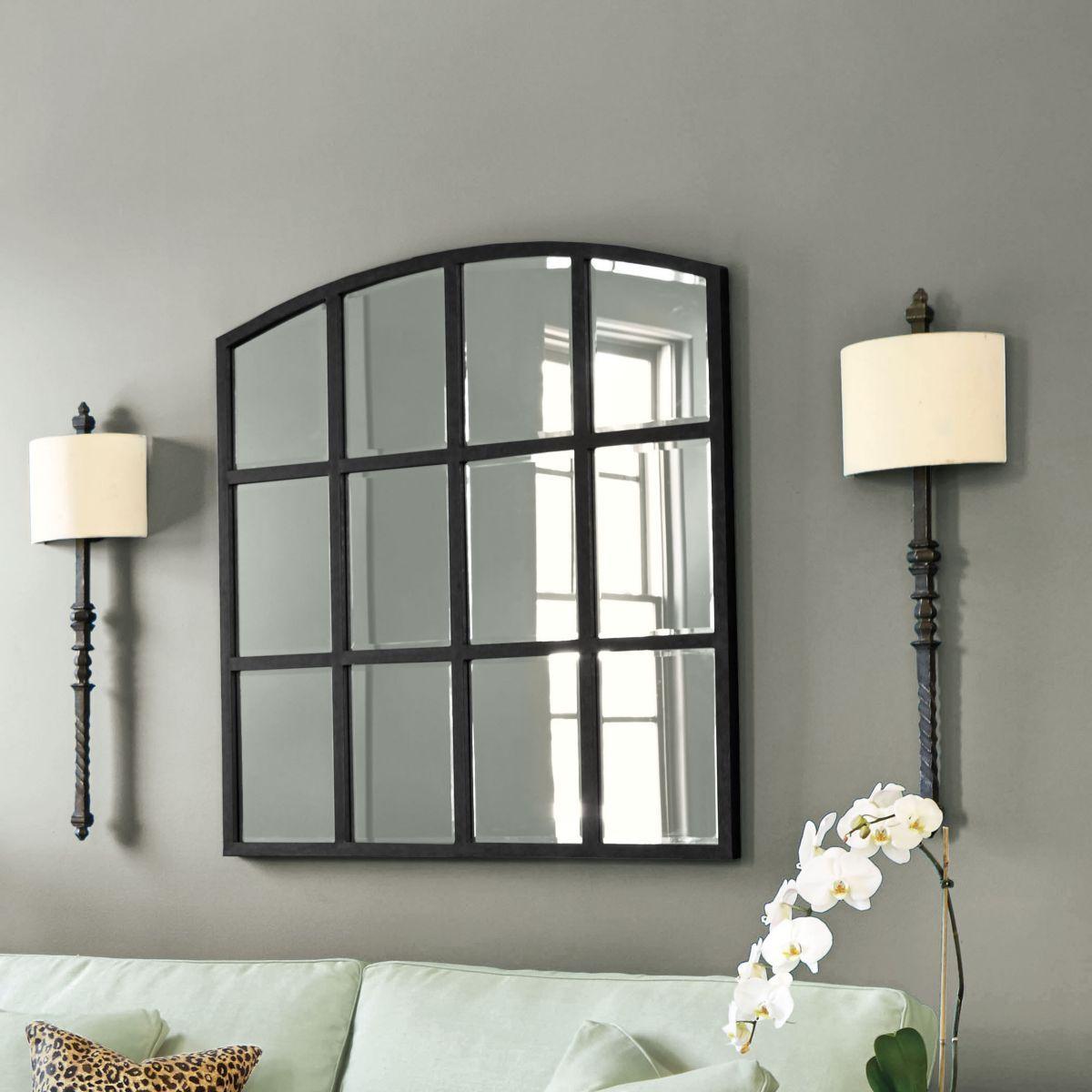 framed wall white fine decorative for mirrors room decor large genius mirror living art most