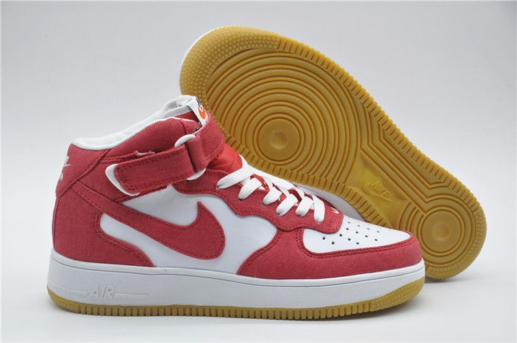 new authentic details for authentic quality air force one homme courir air force 1 mid rougeet blanche ...