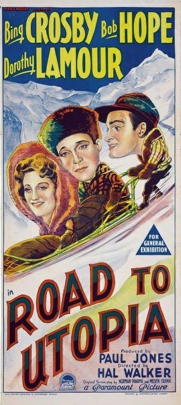 Road to Utopia Bing Crosby vintage movie poster print