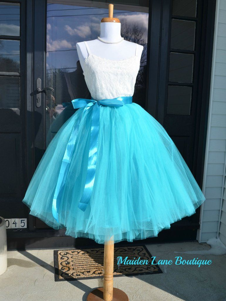 4505cfccf1 Teal Tulle skirt Turquoise tutu   Tulle, I love it!   Pink tulle ...