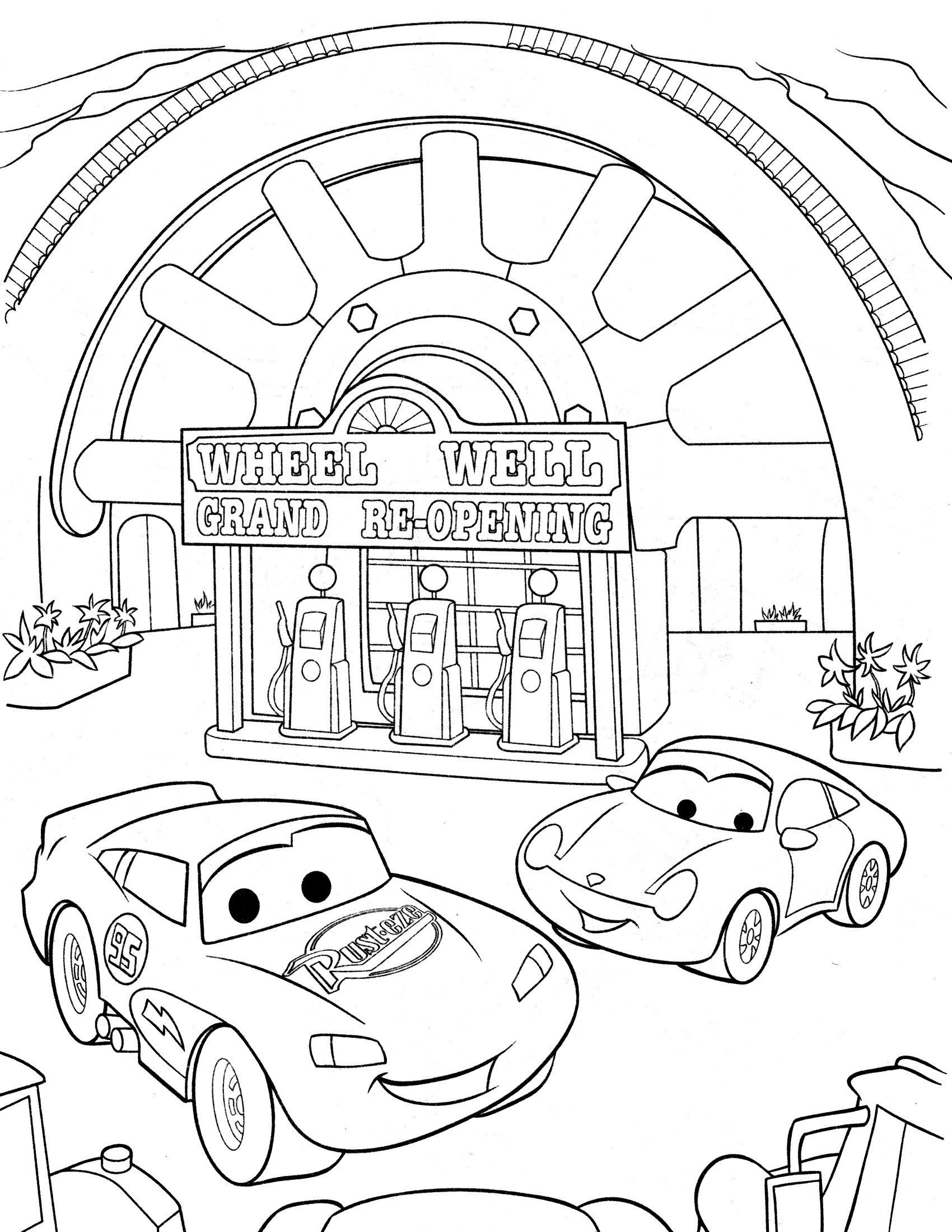 Cars The Movie Coloring Pages Disney Cars Coloring Pages Getcoloringpages Race Car Coloring Pages Cars Coloring Pages Cartoon Coloring Pages
