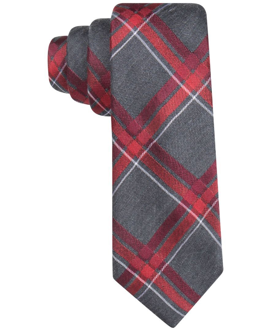 Alfani Men's Lyon Plaid Slim Tie, Only at Macy's