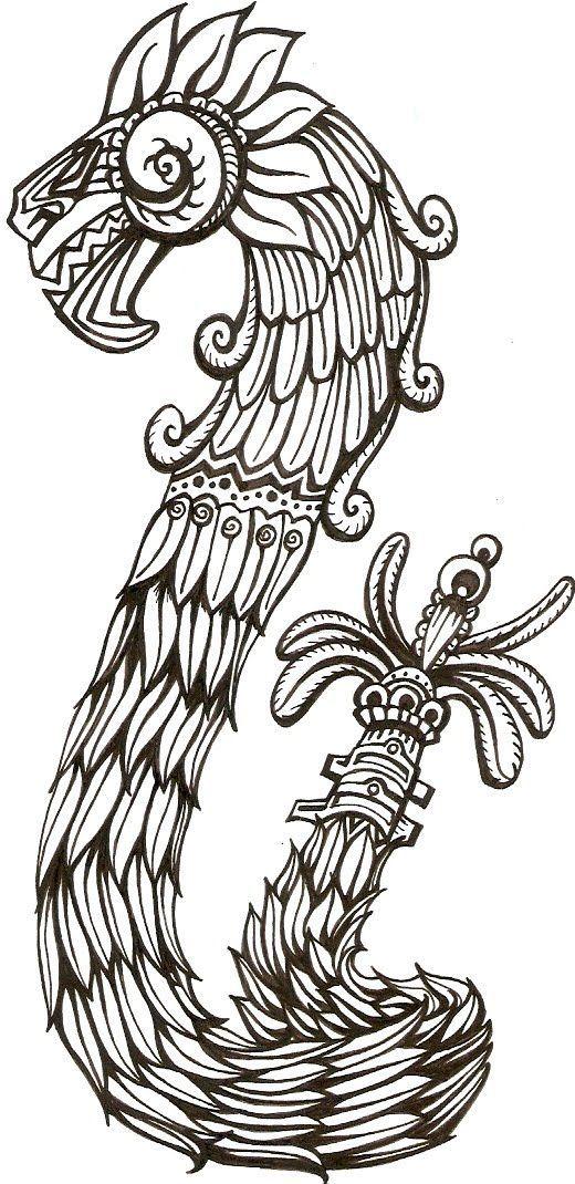 La serpiente emplumada es Quetzalcoatl. Este dios es el dios del ...
