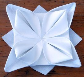 How to create beautiful shapes with table napkins pliage de serviette de tab - Pliage serviettes de table ...