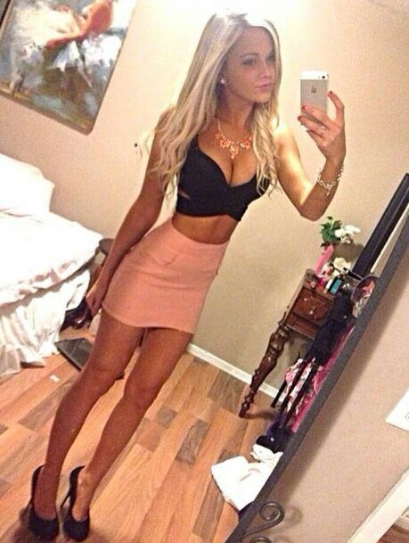 White Girl Skirted Selfie