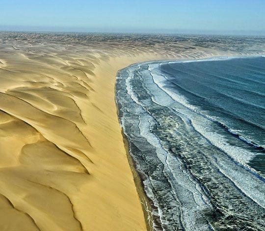 Where The Namib Desert Meets The Atlantic Ocean Desierto