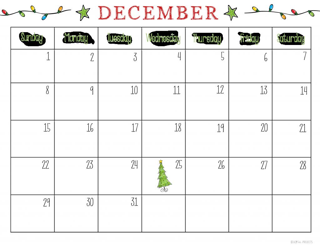 December 2021 Calendar Printable Christmas Free Printable Christmas Planner Printable December Calendar December Calendar Kids Calendar