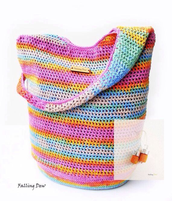 Crochet Handbag / FREE EARRINGS / Crochet Purse, Spring Handbag / Summer Bag, Pink Handbag, Cotton / Full Lining / Summer Fashion Handbag on Etsy, £41.00