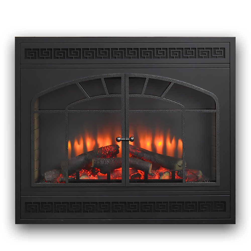 Greatco 34 In Electric Fireplace Insert W Arch Rectangular Front