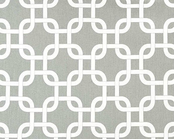 Home Decor Fabric Yardage- Geometric Lattice - Gray And White - 1