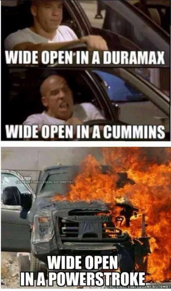 Duramax Vs Cummins Vs Powerstroke Ford Jokes Ford Humor Cummins