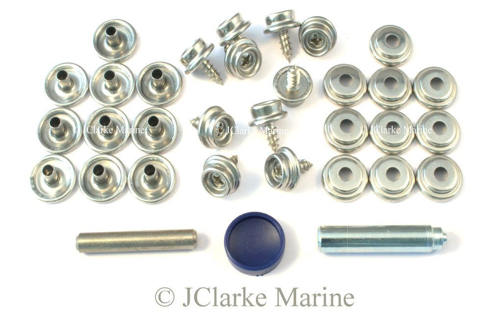 Genuine DOT Snap fastener kit stainless canvas to screw 304