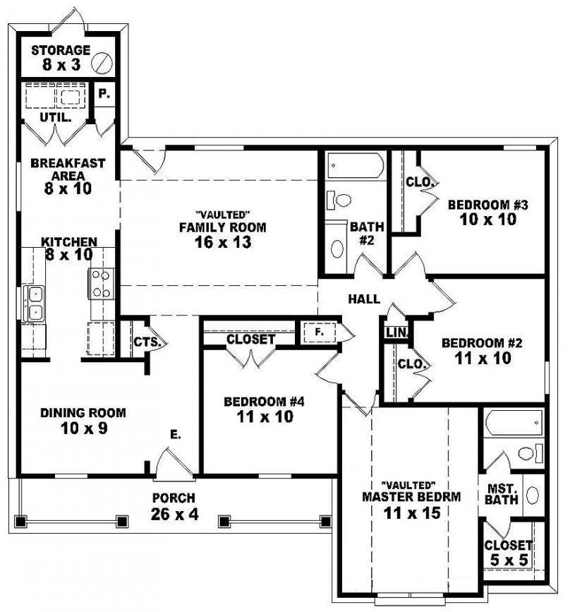 Beautiful [ Bedroom One Story Homes House Floor Plans Single Level ]   Best Free Home  Design Idea U0026 Inspiration