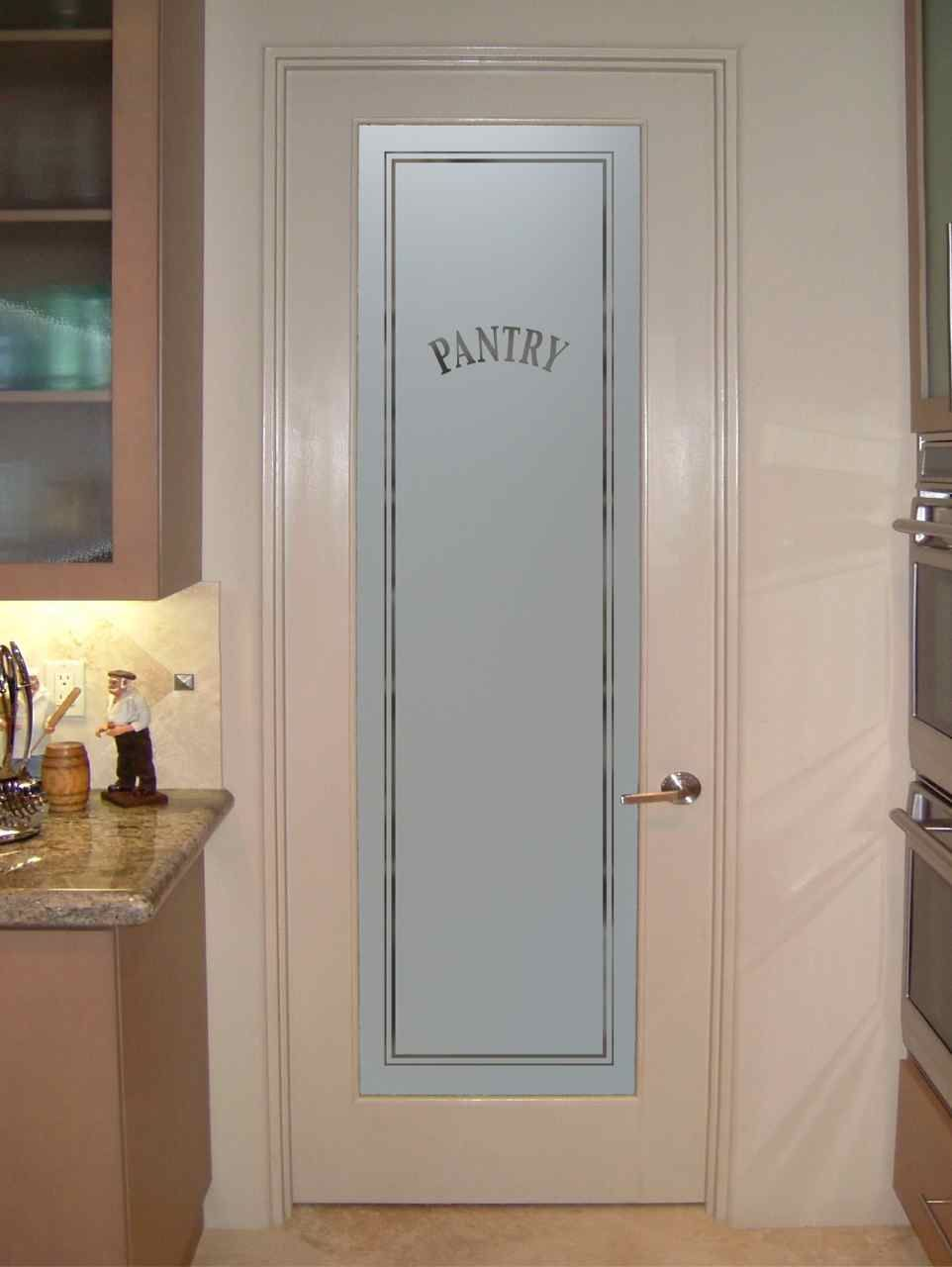 Classic Pantry Door Customize Your Glass And Door Any Size As Glass Insert Only Or Pre Installed In Frosted Glass Pantry Door Glass Pantry Door Pantry Door