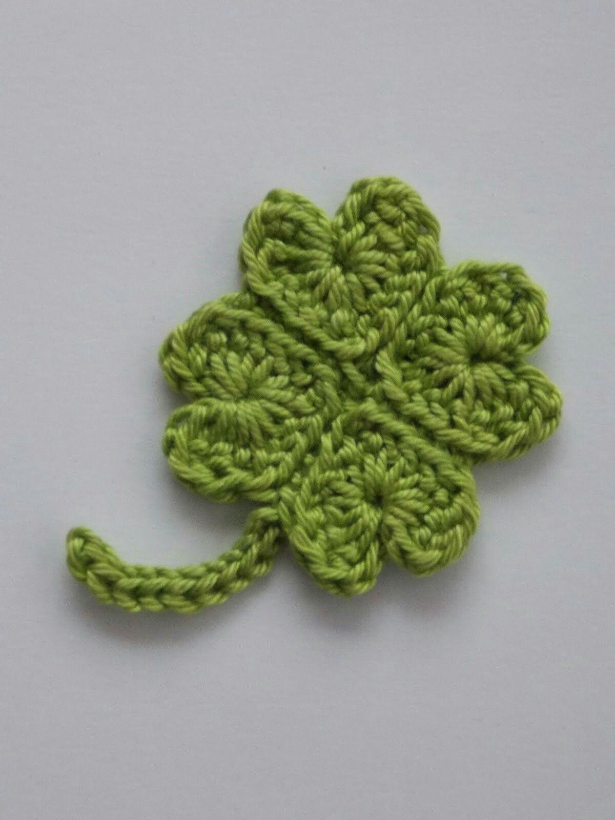 Klavertje Vier Haken Flowers Pinterest Crochet Knitting And