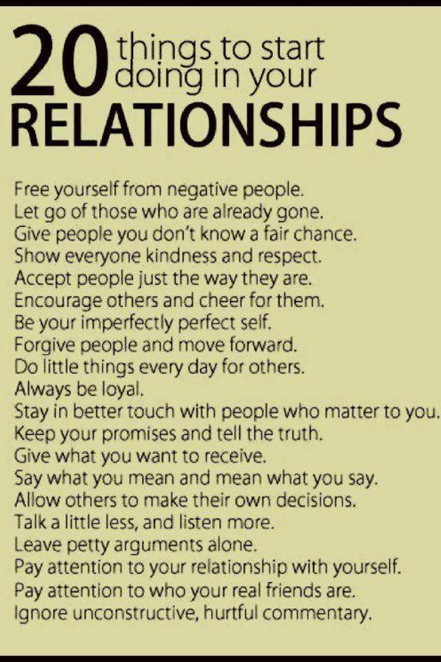 How do most relationships start?