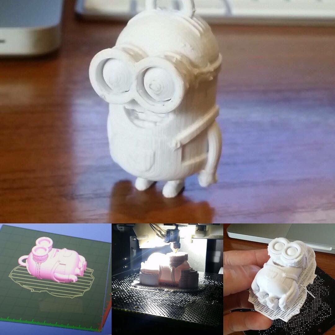 Throwback to first print #3dprinting #minion #upmini by jamescalabria