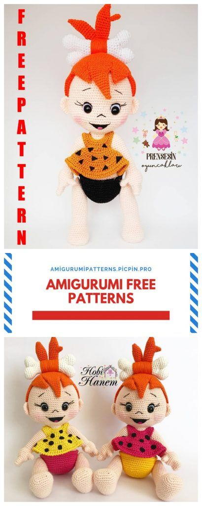 Amigurumi Doll Pebbles Flintstone Free Crochet Pattern - Amigurumi Patterns #crochetamigurumifreepatterns