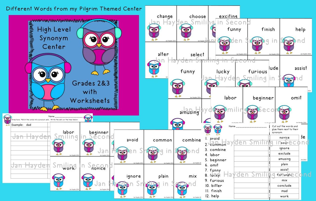 Synonym Center High Order Words Grades 2 Amp 3 Winter Theme