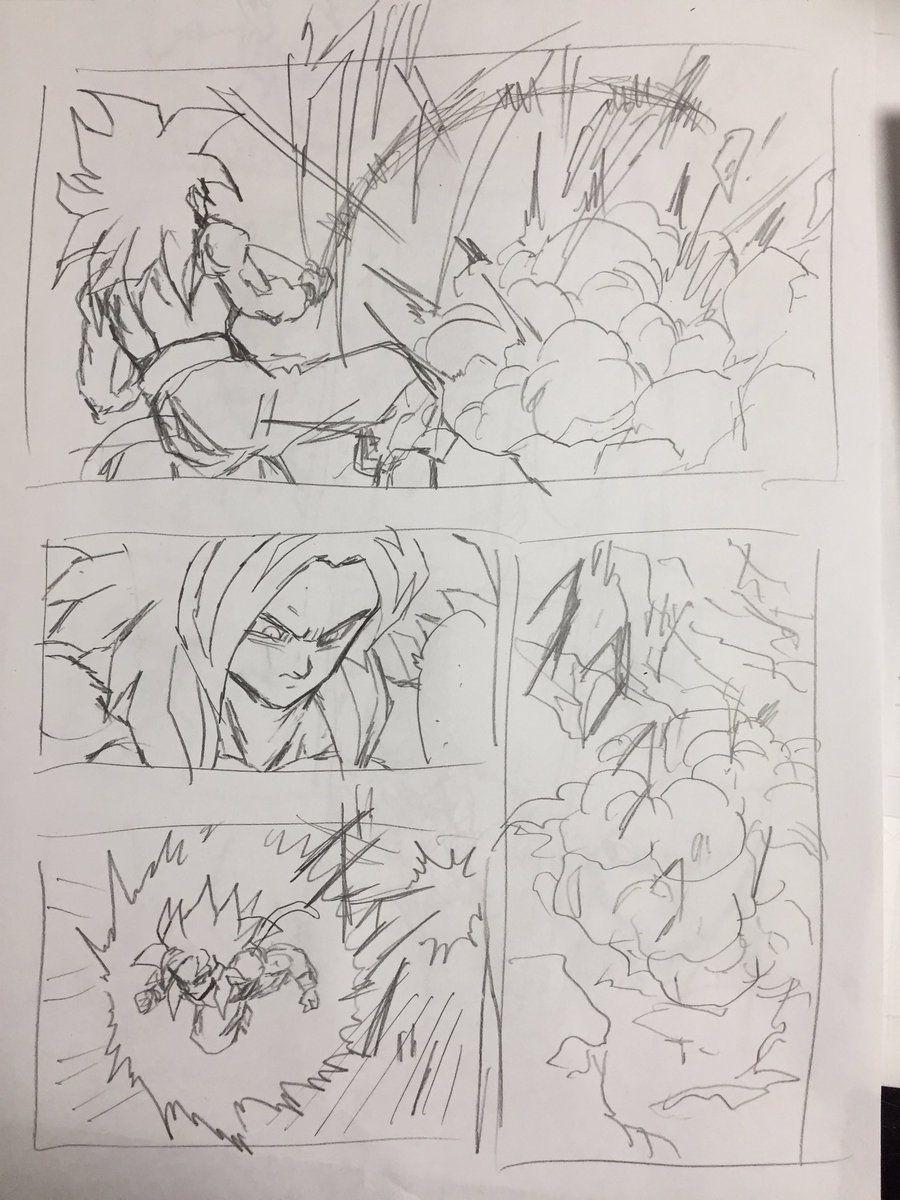 Young Jijii decides to rewrite a scene of Dragon Ball GT! Goku goes ...