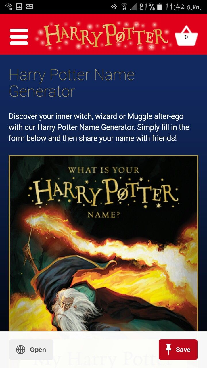 What Is Your Harry Potter Name