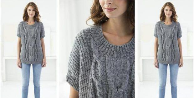 b0545eb39 Modern Knitted Cable Pullover  FREE Knitting Pattern