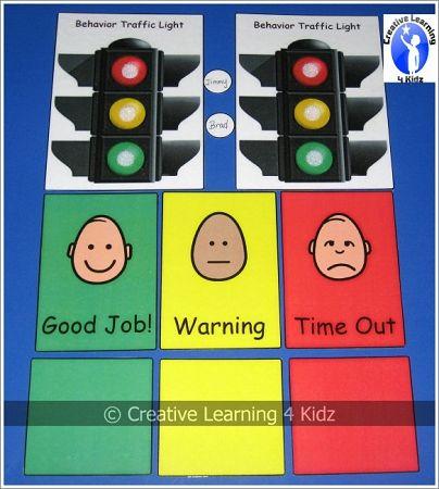 Behavior Traffic Light Chart Card Set Digital Download Traffic Light Creative Learning Behavior Cards