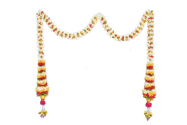 Cone Shape Chintamani Flower Artificial Garlands Indian Door Set Wall Hanging Marigold Artificial Garland Indian Wedding Decorations Wedding Flower Decorations