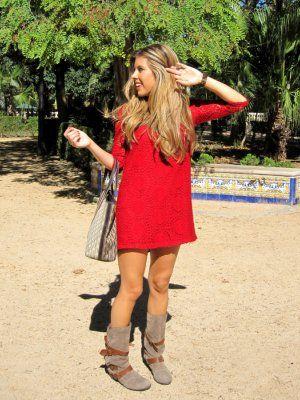 Blonde-Mery Outfit casual trendy urbano Otou00f1o 2012. Combinar Vestido Rojo oscuro Zara Kids ...