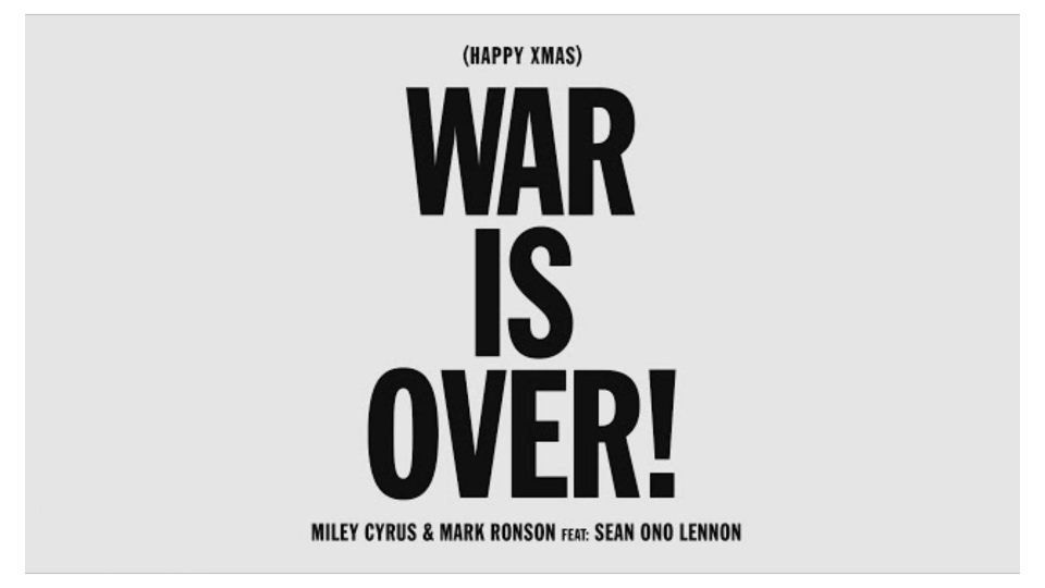 Happy Xmas War Is Over Guitar Chords By Miley Cyrus Mark Ronson Miley Cyrus Guitar Chords Miley