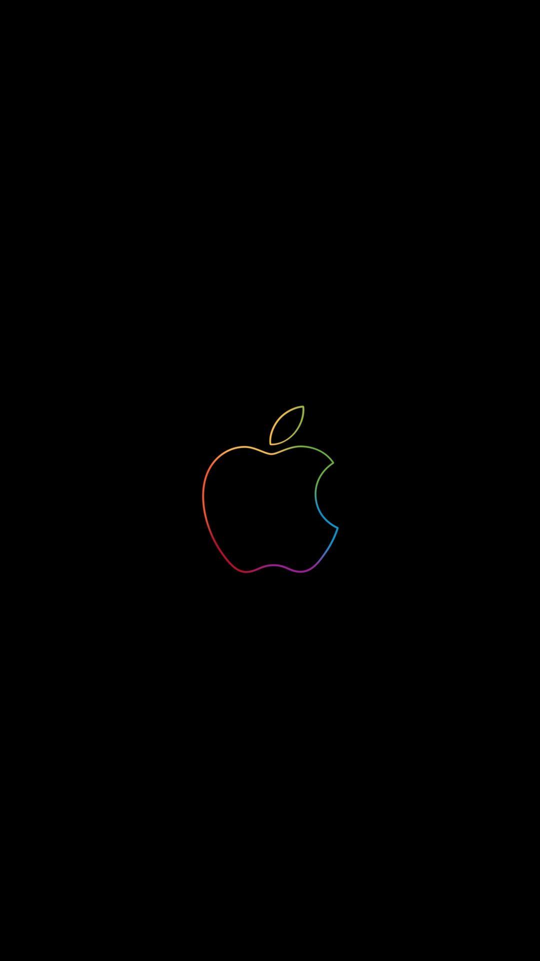 Apple Colorful Logo Minimal 1080x19 Wallpaper Apple Logo Wallpaper Iphone Apple Logo Wallpaper Apple Wallpaper Iphone