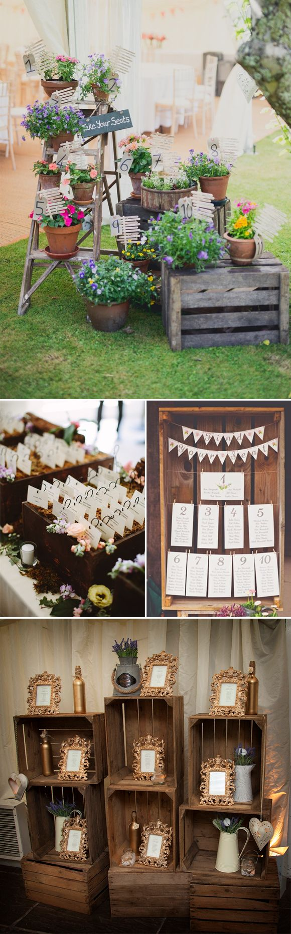 Cajas de madera vintage en tu boda weeding pinterest bodas wedding and rustic chic - Cajas de decoracion ...