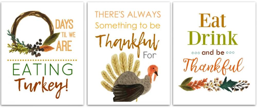 Free Printable Thanksgiving Countdown Art Prints Hip2save In 2020 Free Thanksgiving Printables Thanksgiving Countdown Thanksgiving Printables