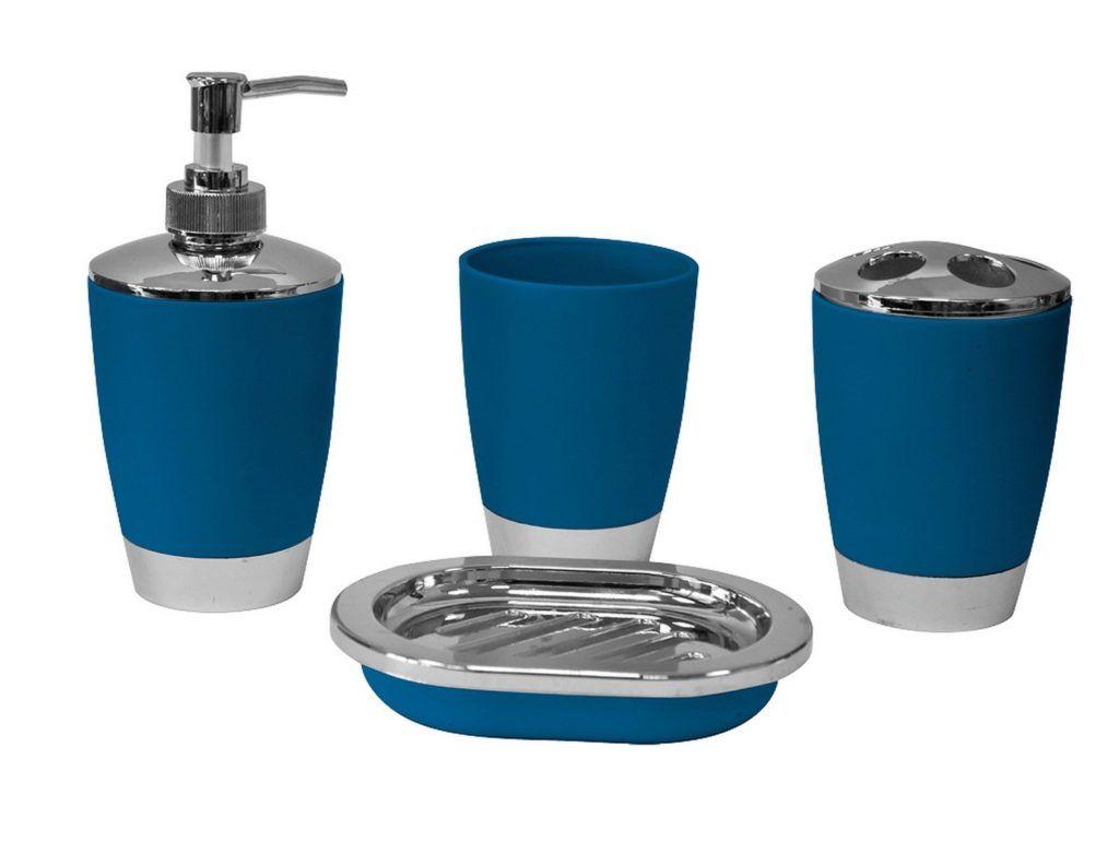navy blue white bathroom accessories - Blue White Bathroom Accessories