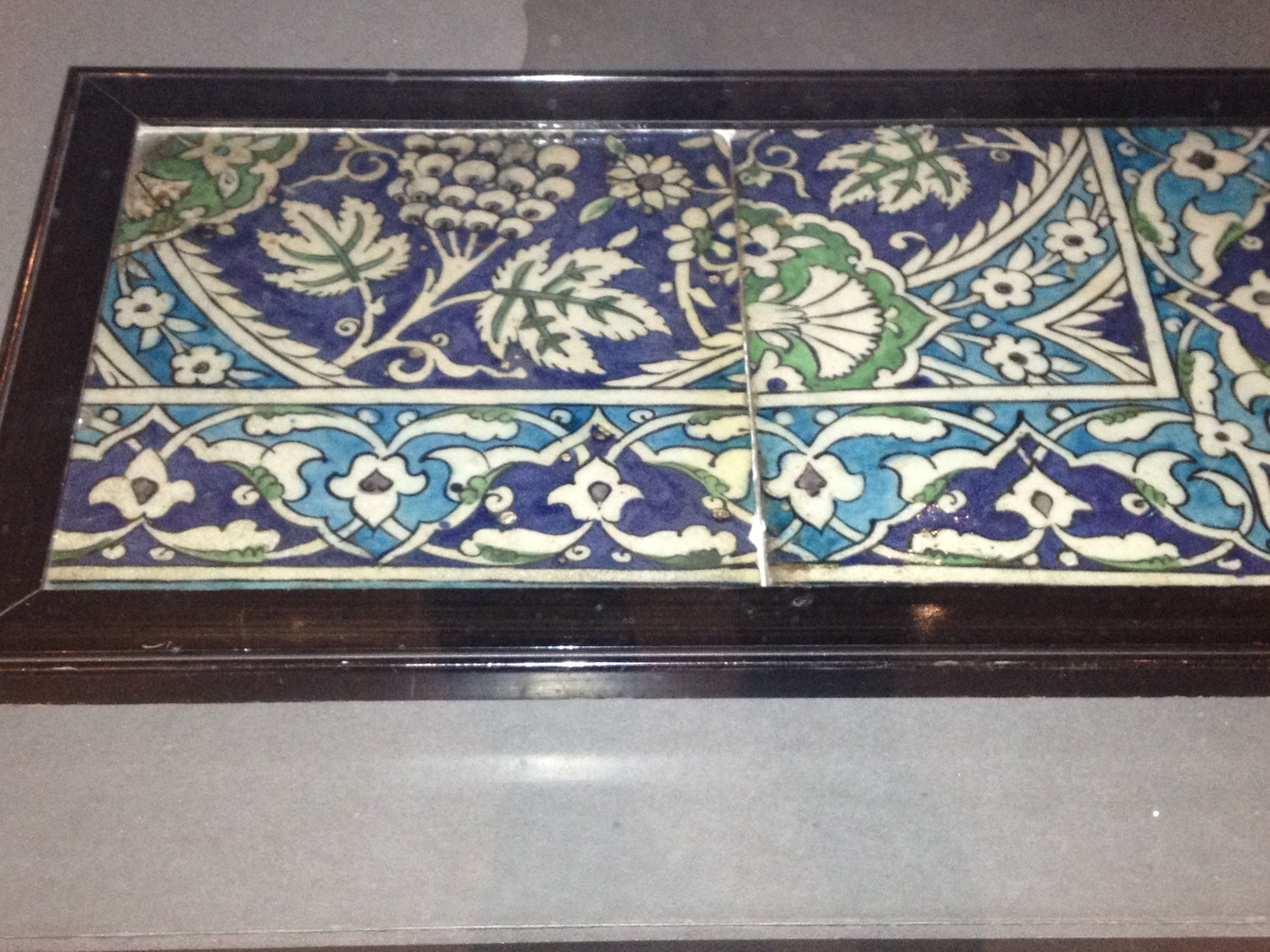 Tile in the collection of the Museum of the Order of St John ...