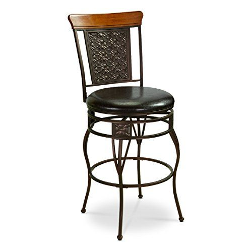 Superieur CASTLECREEK Oversized Pressed Metal Bar/Counter Stool, Counter Height