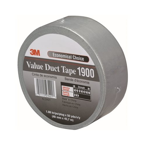 Silver 3m 1900 Duct Tape 2 X 50 Yard Roll 24 Roll Case Duct Tape Silver Duct Tape Rubber Adhesive