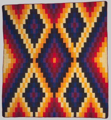 Daybreak/Dawn Quilt, 1995 Charlie and Julia Grinnell (Hidatsa ... : indian quilt pattern - Adamdwight.com
