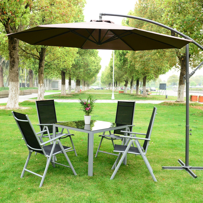 Hang Blinds Outside Window Frame: Outsunny Φ10' Deluxe Patio Umbrella Outdoor Market Parasol