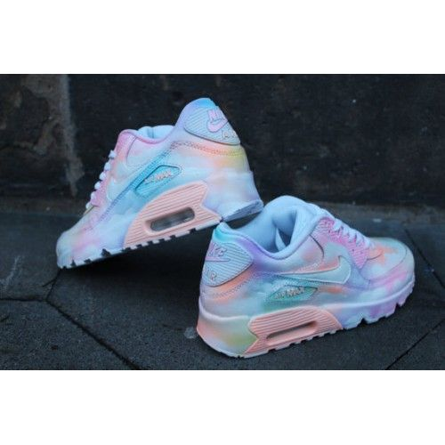 Nike Air Max 90 Custom Painted Cloudy Pastell Dream Trainers Sale UK
