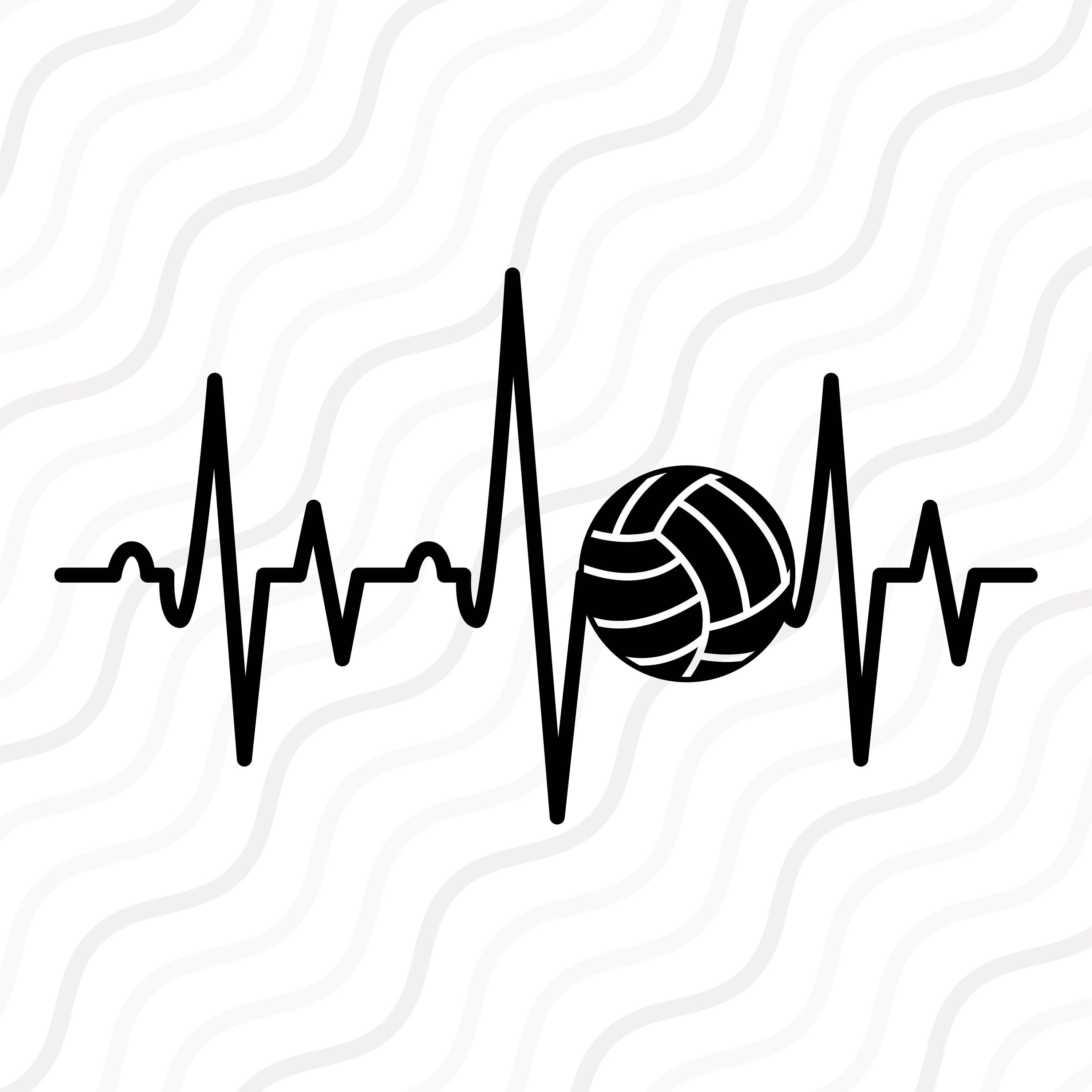 A Personal Favourite From My Etsy Shop Https Www Etsy Com Sg En Listing 544190632 Volley Ball Heartbeat Svg Vo Volleyball Wallpaper Volley Volleyball Designs