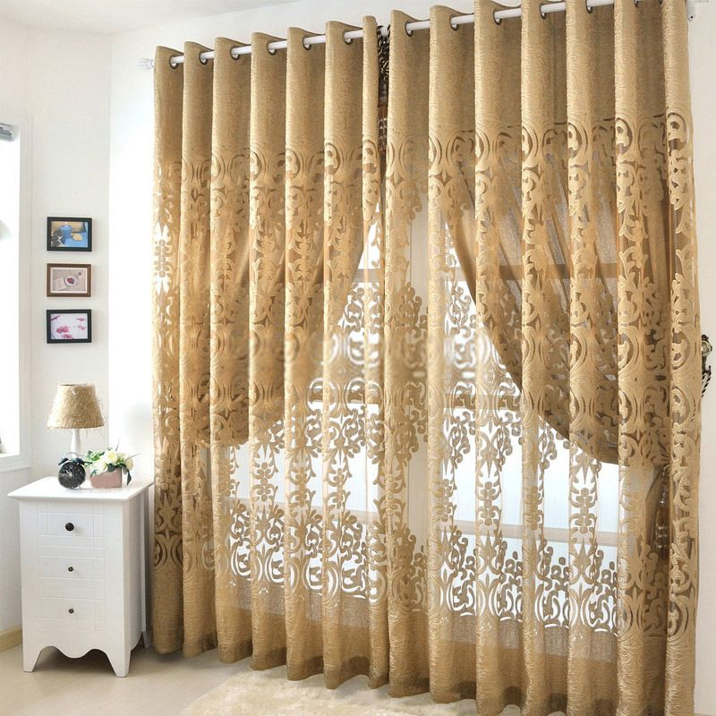 Designs for living room curtains 2017 2018 best cars for Modern living room curtain designs pictures