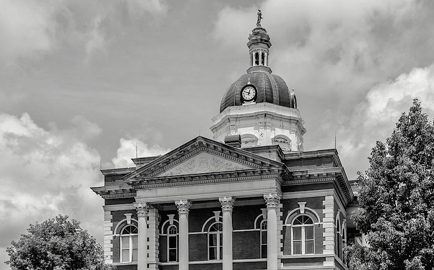 Maycomb County courthouse | Courthouse, Empire state
