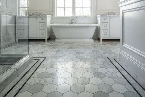 Vintage bathroom decor ideas with simple vintage bathroom floor tile