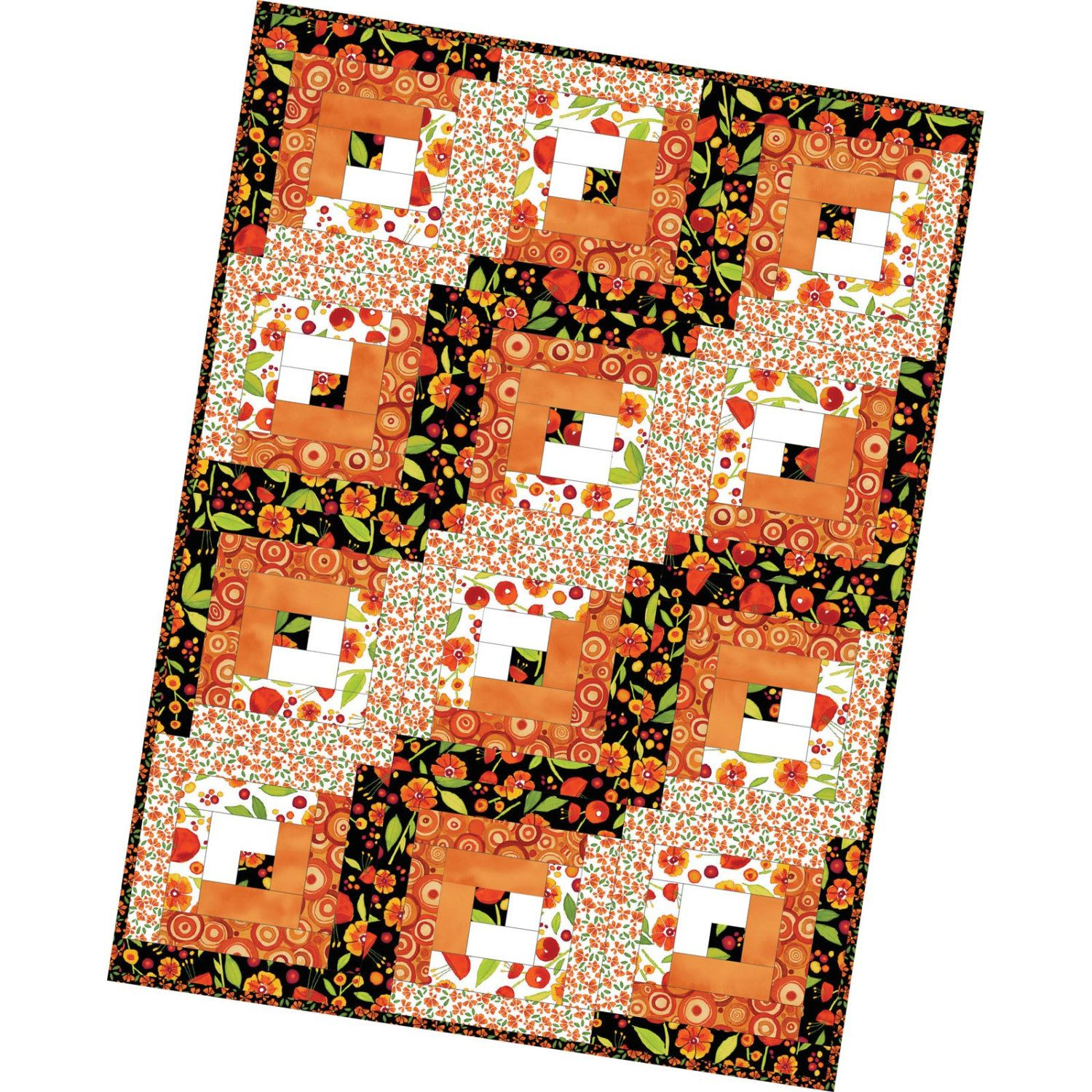 FREE Shipping Log Cabin Precut Quilt Kit Pod by Maywood Studio ... : precut quilt kit - Adamdwight.com