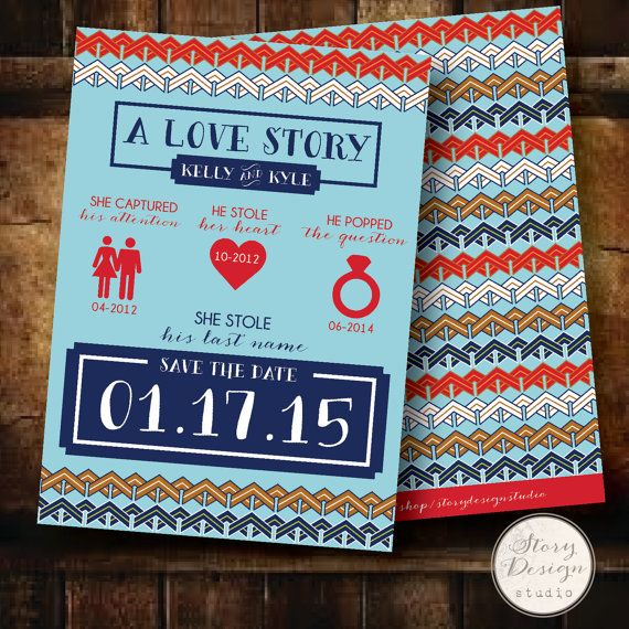 aztec - love story - save the date