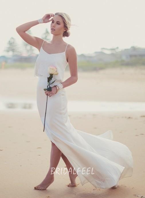 fall beach wedding dress