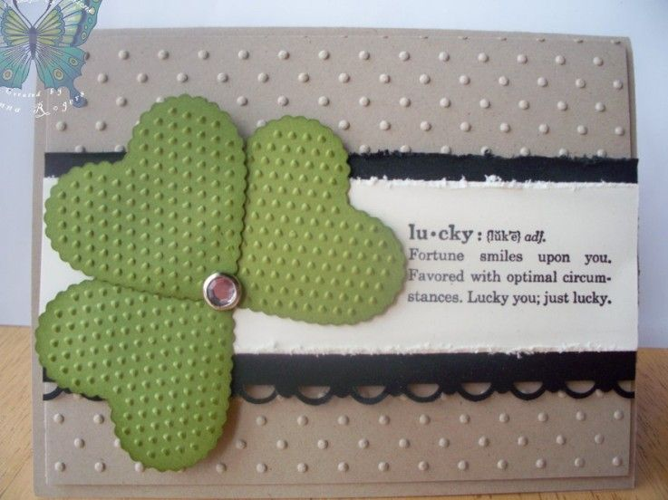 Pretty St. Patty's Day card by Donna Rogers.